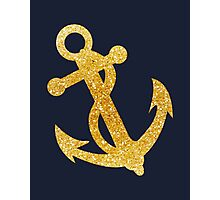Nautical Gold Anchor 02 Photographic Print