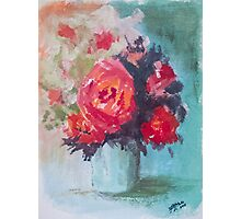 Vase of Roses Photographic Print