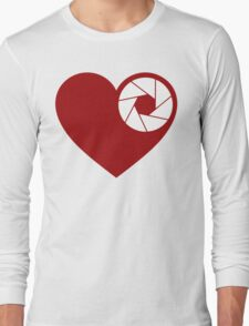 Heart Aperture Long Sleeve T-Shirt