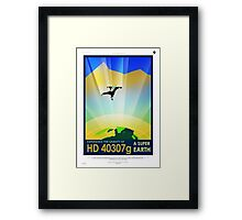 Vintage SpaceX HD 40307g Science Fiction Framed Print