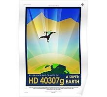 Vintage SpaceX HD 40307g Science Fiction Poster