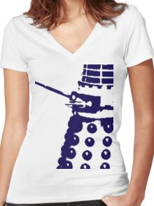 Dr Who Dalek Women's Fitted V-Neck T-Shirt