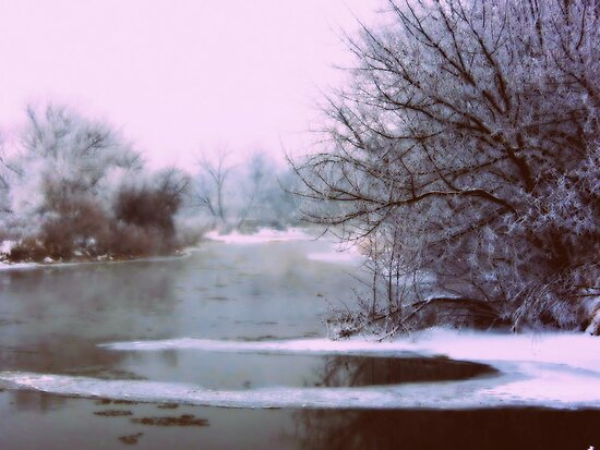 Boise River....Caldwell, Idaho...7 degree's  by trueblvr