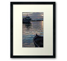 ships collide Framed Print
