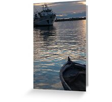 ships collide Greeting Card