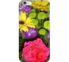 Colourful bunch of flowers. iPhone Case/Skin