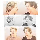Narry Niall Horan and Harry Styles bromance iPhone 4/4s/5 case by Cameron Chaney