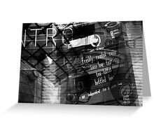 Manchester - Photomontage Greeting Card