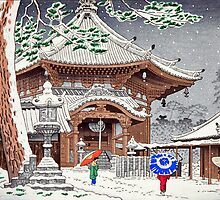Snow at Nan-endo Temple, Nara, Japan by chawus