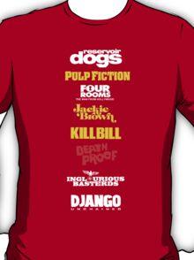 Quentin Tarantino Filmography T-Shirt