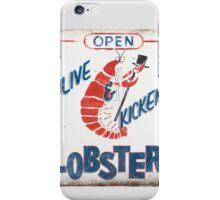 Live Kicken' Lobsters! iPhone Case/Skin
