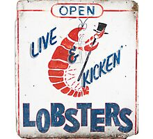 Live Kicken' Lobsters! Photographic Print