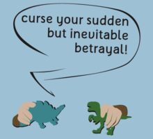 Curse your sudden but inevitable betrayal! (on white) Kids Clothes