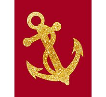 Nautical Gold Anchor 03 Photographic Print