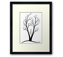 A Two-trunked Tree Framed Print