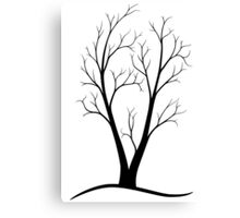 A Two-trunked Tree Canvas Print