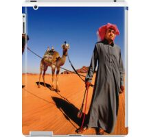 A Bedouin with his two camels.  iPad Case/Skin