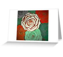 Vintage Style Christmas Roses Greeting Card