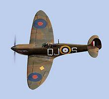 Spitfire Mk 1 R6596 QJ-S by Gary Eason + Flight Artworks