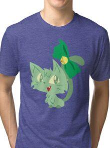 Green Kitty Tri-blend T-Shirt