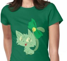 Green Kitty Womens Fitted T-Shirt