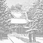 Snow at Hiei Shrine by chawus