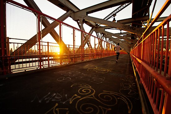 Williamsburg Bridge at Sunset - New York City by Vivienne Gucwa
