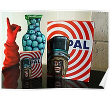 Aqua Apples Red Glove Icelandic Candy and the Mad Hatter Poster