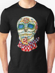 Pizza Sugar Skull Unisex T-Shirt