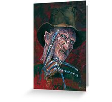 Freddy Krueger Greeting Card
