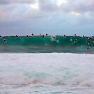 Sunset Surf Pipeline by kevin smith  skystudiohawaii