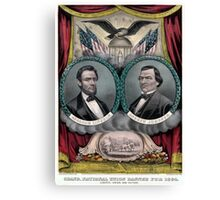 Vintage Civil War Republican Presidential Election Canvas Print