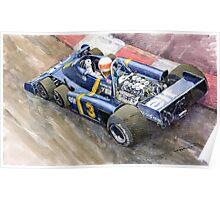 Tyrrell Ford Elf P34 F1 1976 Monaco GP Jody Scheckter Poster