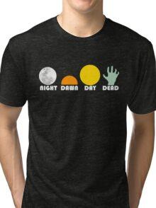 The Dead Trilogy 1968-1985 white print Tri-blend T-Shirt