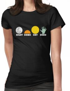 The Dead Trilogy 1968-1985 white print Womens Fitted T-Shirt