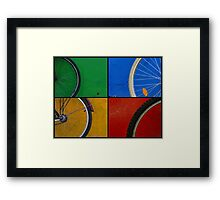 Bike Wheels Framed Print