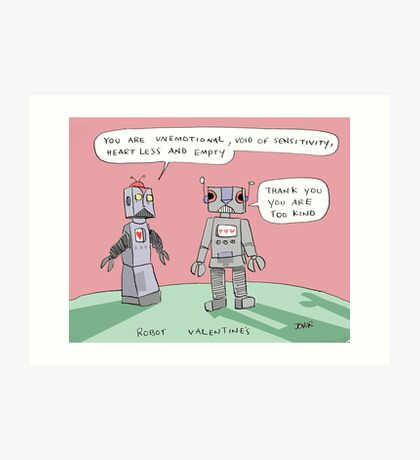 robotic valentine Art Print