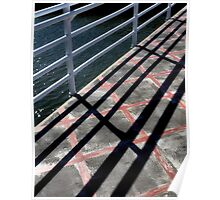 Converging Lines And Colors Poster
