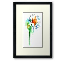 Daisy Watercolor Framed Print