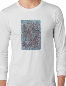 Snow Pines (Blue) Long Sleeve T-Shirt