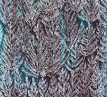 Snow Pines (Blue) by SuburbanBirdDesigns By Kanika Mathur