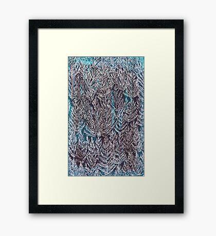 Snow Pines (Blue) Framed Print
