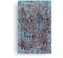 Snow Pines (Blue) Canvas Print