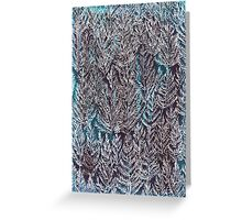 Snow Pines (Blue) Greeting Card
