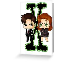 Chibi X Files Greeting Card