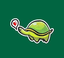 Green Love Turtle Womens Fitted T-Shirt