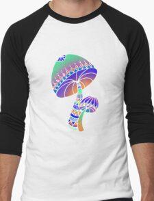Shroom Inverted - blue/orange/green/purple Men's Baseball ¾ T-Shirt