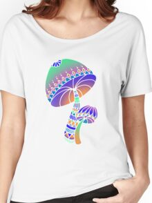 Shroom Inverted - blue/orange/green/purple Women's Relaxed Fit T-Shirt