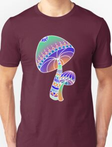 Shroom Inverted - blue/orange/green/purple T-Shirt