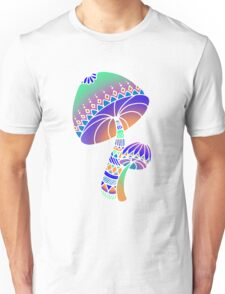 Shroom Inverted - blue/orange/green/purple Unisex T-Shirt